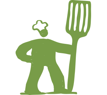 Illustration of Grill dude with spatula
