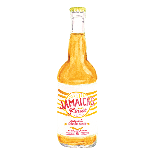 Illustration of Jamaica's Finest Ginger Beer