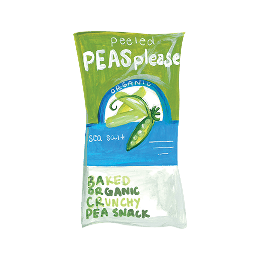 Illustration of Peeled Peas Please™ Snacks