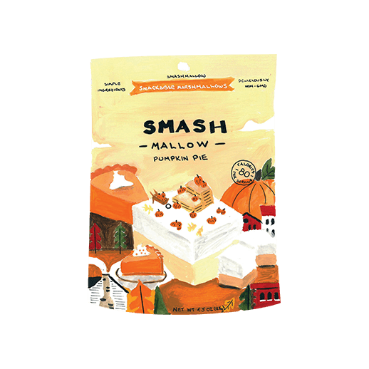 Illustration of SMASHMALLOW Snacks Introducing Pumpkin Pie!