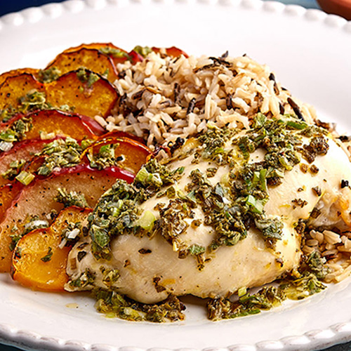 Sage Roasted Chicken Breast with Winter Squash Medley