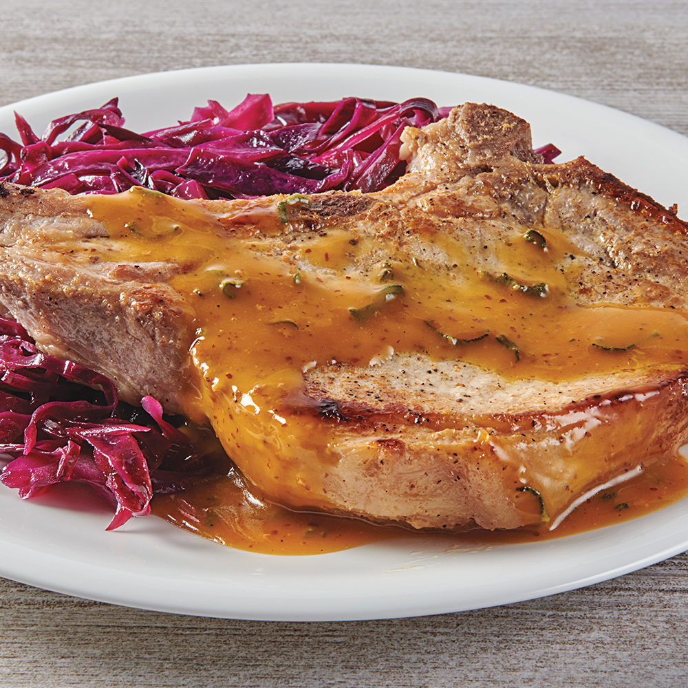 Pork Chops with Sweet and Sour Cabbage
