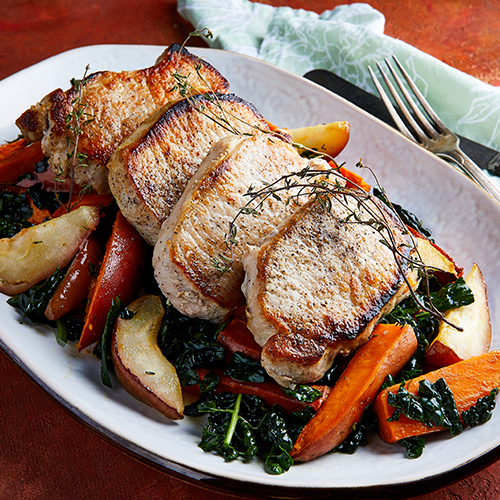 Pork with Sweet Potatoes and Pears